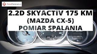Mazda CX-5 2.2 SKYACTIVE-D 175 KM - pomiar spalania