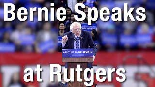 Bernie Sanders Speaks at Rutgers University