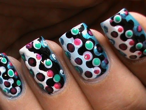 Dotting Nail Art Designs For Beginners Cute Easy Polka Dots Dotting Tool Dotted Nails technique