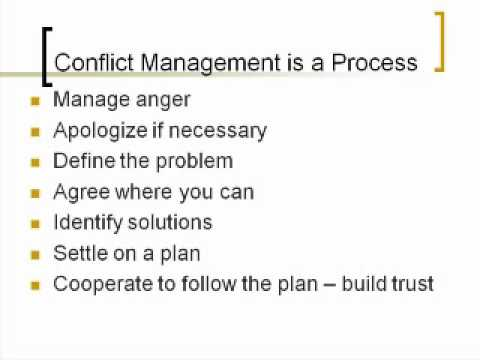 Manage Conflict & Negotiation Skills