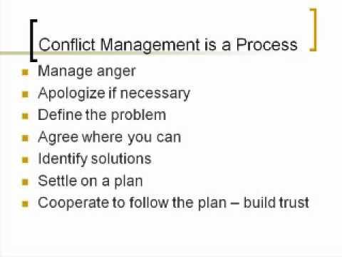 Manage Conflict & Negotiation Skills