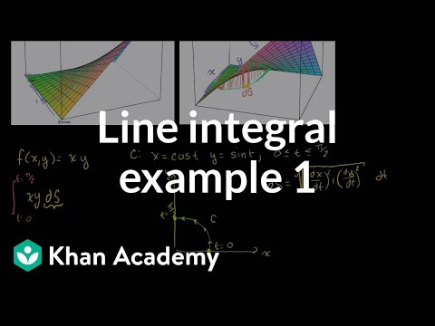 Line Integral Example 1