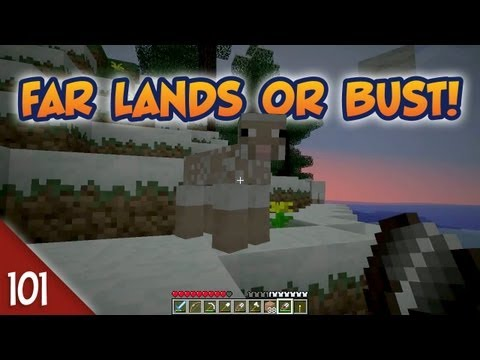 Minecraft Far Lands or Bust #101 - Racing For Wool