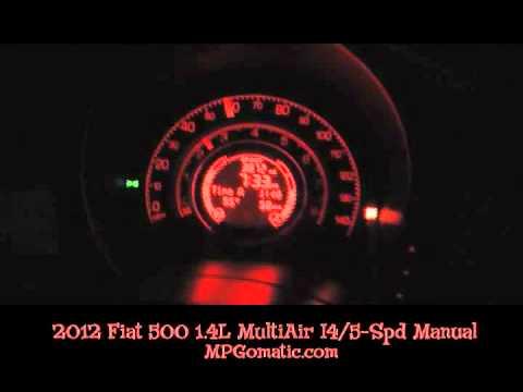 2012 Fiat 500 0-60 MPH