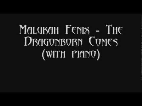 Malukah Fenix - The Dragonborn Comes (Dovahkiin) Lyrics + Piano