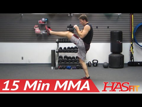 UFC TRAINING MMA WORKOUT - 15 Min MMA Training Conditioning w/ PRO Fight Coach Kozak