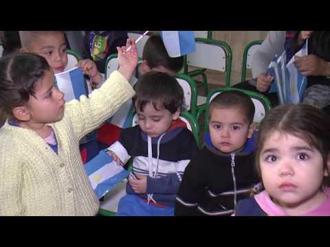 En la Escuela Hogar, los más pequeños también festejaron el Día de la Bandera