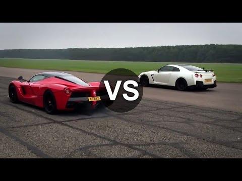 Ferrari LaFerrari Vs Nissan GTR Drag Race - DRAGINFO - UCqsqFY71DA6nVeMQiGKKVXg