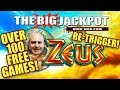 WOW!!! ⚡OVER 100 FREE GAMES!! ZEUS RE-TRIGGER WIN! ⚡