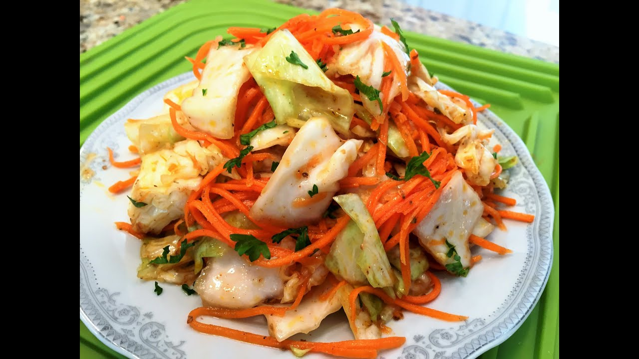 морковка с капустой по корейски рецепт