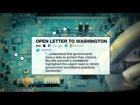 Tech companies pressure Obama over (NSA)  12/10/13