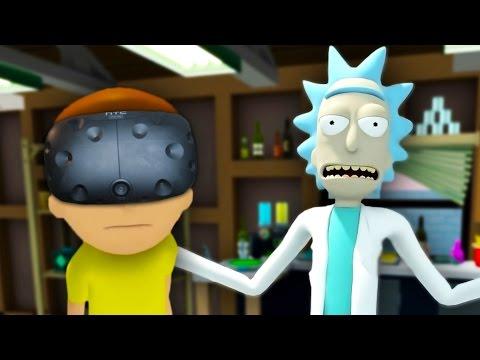WUBBA LUBBA DUB DUB | Rick And Morty VR #1 (HTC Vive Virtual Reality) - UCYzPXprvl5Y-Sf0g4vX-m6g