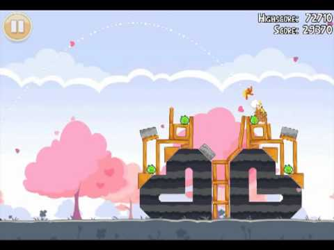 Official Angry Birds Seasons Walkthrough Hogs and Kisses 1-18