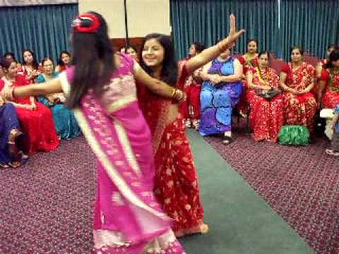 presents Nepali Teej geet dance 2009 Manassas USA part - 10