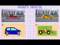 Фрагмент с конца видео - Автовоз и машины городских служб. Полицейская, Скорая, Пожарная и Такси