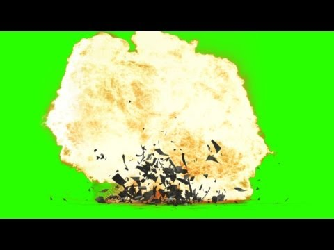 Helicopter crashes and explodes - FX green screen effects