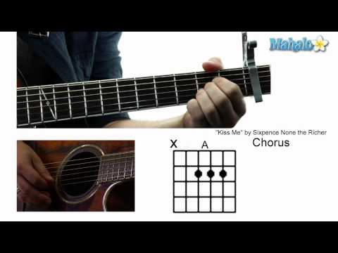 How to Play Kiss Me by Sixpence None the Richer on Guitar