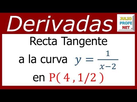 Hallar la ecuacion de la recta tangente a una curva