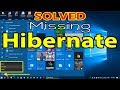 [SOLVED] Hibernate Option is not available in Windows Power Button | Missing Hibernate in Windows