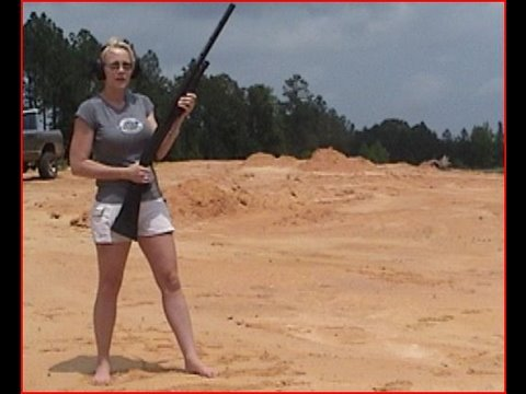 Sexy Girl Vs Massive Recoil (10 Gauge)