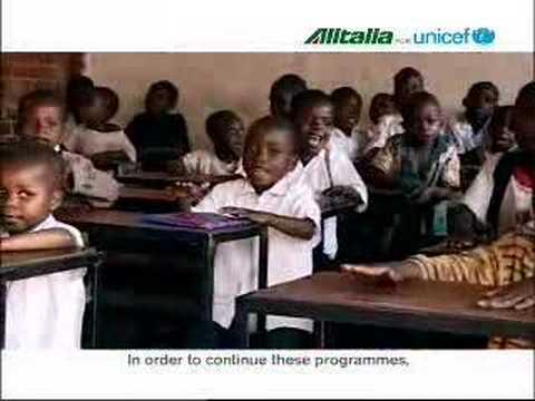 UNICEF - Francesco Totti e Alitalia per l'UNICEF PSA