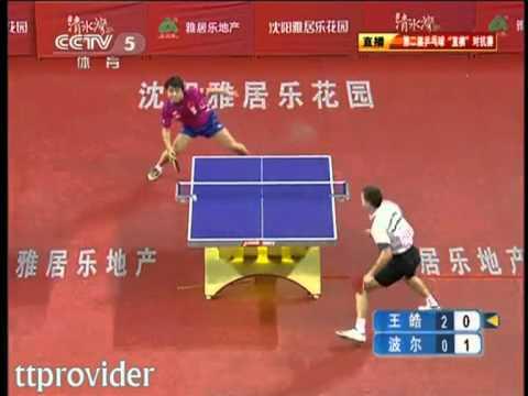 Penhold vs. Shakehand 2011: Wang Hao-Timo Boll