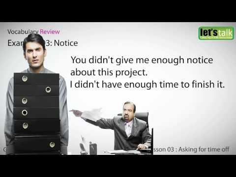 English Speaking at work - lesson 03  - Fluent English, Vocabulary, Phrases, Idioms, Grammar