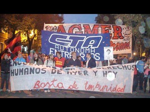 <b>24M.</b> Gremios y organizaciones opositoras al gobierno marcharon en Paran�