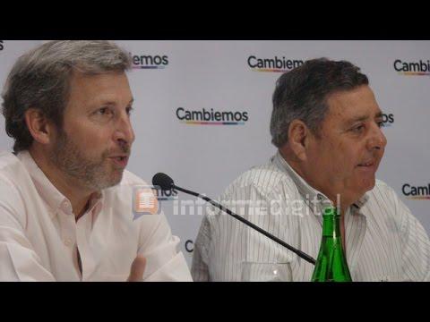 <b>Elecciones.</b> Rogelio Frigerio y Alfredo De Angeli esperan datos definitivos