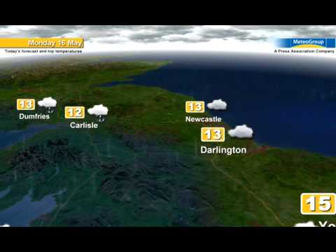 Weather forecast for Mon 16th May 2011