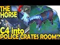HORSE w/ ATV SWAMP UPDATE 1.10 - C4 into POLICE CRATES?! - Last Day On Earth Survival Update 1.9.6