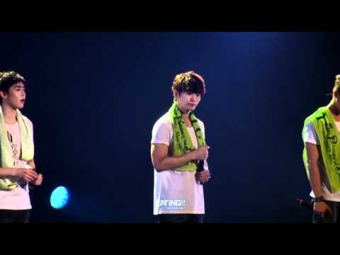 [FANCAM] 120525 JUNHO Six Beautiful Days - Thank You