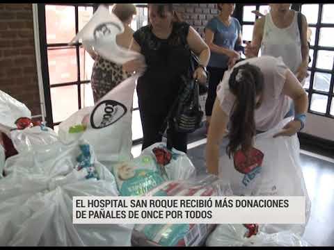 El hospital San Roque recibió más donaciones de pañales de Once por Todos