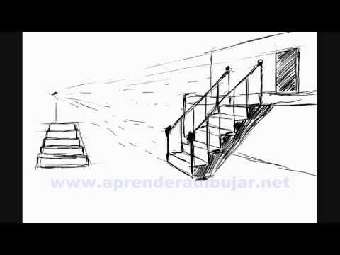 Como dibujar escaleras - Bocetos de dibujos de casas y edificios