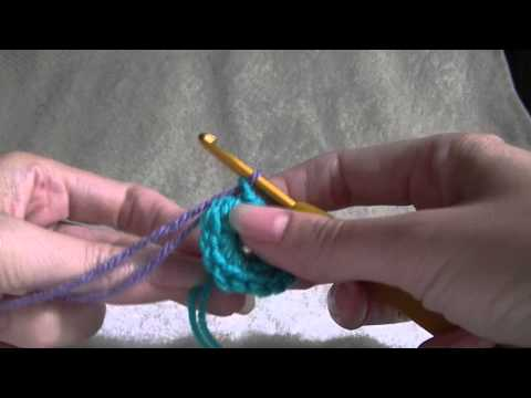 Crochet Flower Part 4 of 4 - Easy - How to change Colour