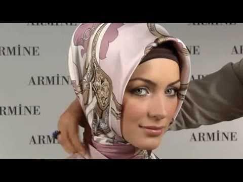 طريقة لبس حجاب تركي حرير