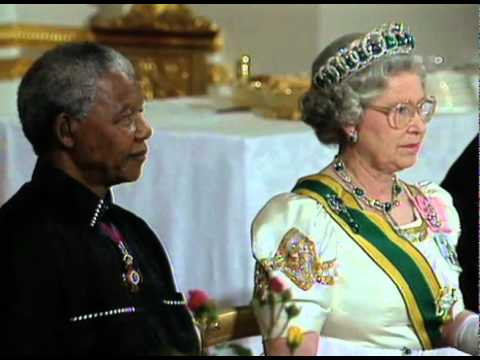 Nelson Mandela meeting Queen Elizabeth II