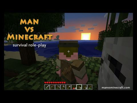 Man vs Minecraft - [S2] Day 4 Good Find (Survival Role-play)