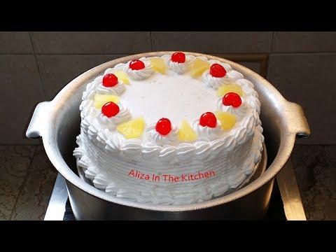 Pineapple Cake Recipe - Cake Recipe - No Oven Cake Recipe by Aliza In The Kitchen