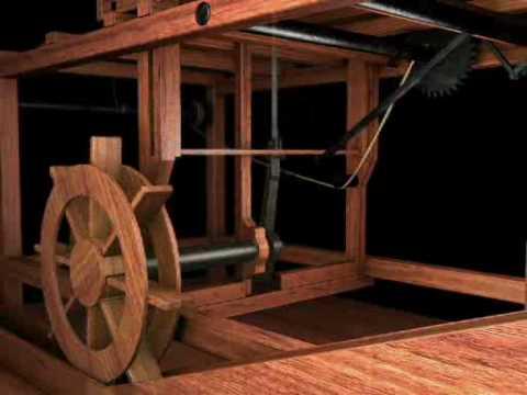 Sega idraulica (Hydraulic saw) di Leonardo da Vinci