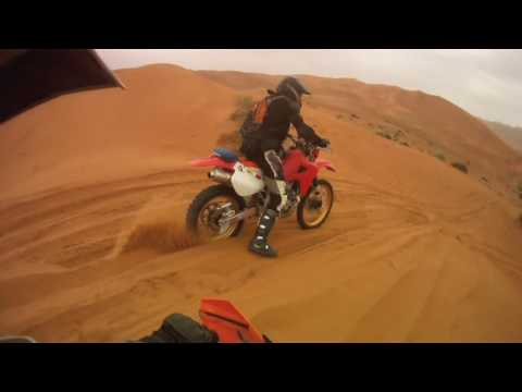 Desert ride after the rain - XR650R and KTM 525 near Dubai