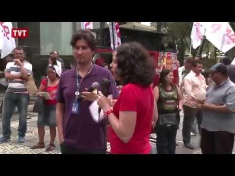 Dirigentes sindicais fazem ato em defesa dos bancos públicos