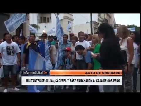 <b>Acto en Casa de Gobierno:</b> Intendentes, legisladores y funcionarios movilizaron para Urribarri