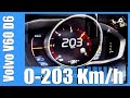 2014 Volvo V60 D6 283 HP Plug-In Hybrid 0-203 km/h GREAT! Acceleration