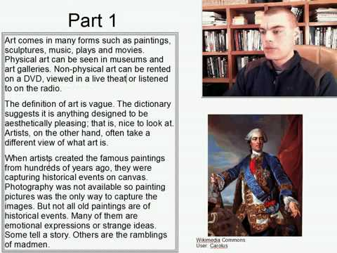 Advanced Listening English Practice 15: What is art?