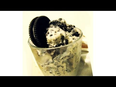 How to make Oreo Cookies & Cream gelato ice-cream without an ice cream maker (Low fat version)