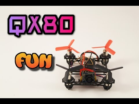 QX80 Quadcopter micro FPV review. Awesome indoor drone. - UC3ioIOr3tH6Yz8qzr418R-g