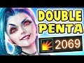 THIS WILL 100% BE NERFED!! NEW JINX W CRIT FOR 2000+ | TWO PENTAKILLS 100% CRIT 23 KILLS Nightblue3
