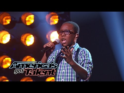 "Quintavious Johnson: 12-Year-Old Boy's Cool ""And I Am Telling You"" Cover - America's Got Talent 2014"