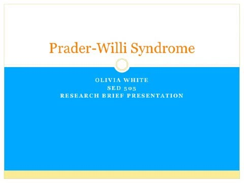 prader willi syndrome research paper Prader-willi syndrome was first known as prader-labhart-willi syndrome after essay/term paper: prader-willi syndrom need a custom research paper on.